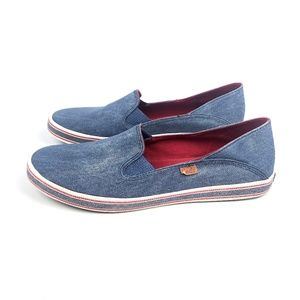 Keds Denim Champion Slip On Sneaker Flats Chambray